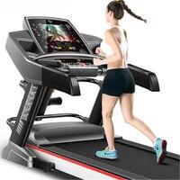 F868 электрическая беговая дорожка 10,1 дюймов WI FI HD Цвет Экран Многофункциональный тренажеры Run подготовке Фитнес Крытый спортивный