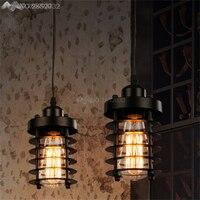 Lâmpada suspensa industrial  preta  vintage  luzes led  para casa  estilo loft  nórdico