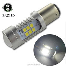 2pcs AC12V 24V 1157 BAY15D BA15D BAZ15D P21/4W 21 2835SMD White Red Amber Lamp Auto p21/5w led bulbs rear brake Lights