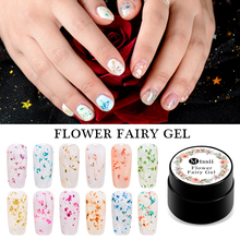 Flower Fairy Gel Varnish Floral Fairy UV Gel Lacquer 5ml Dried Flower