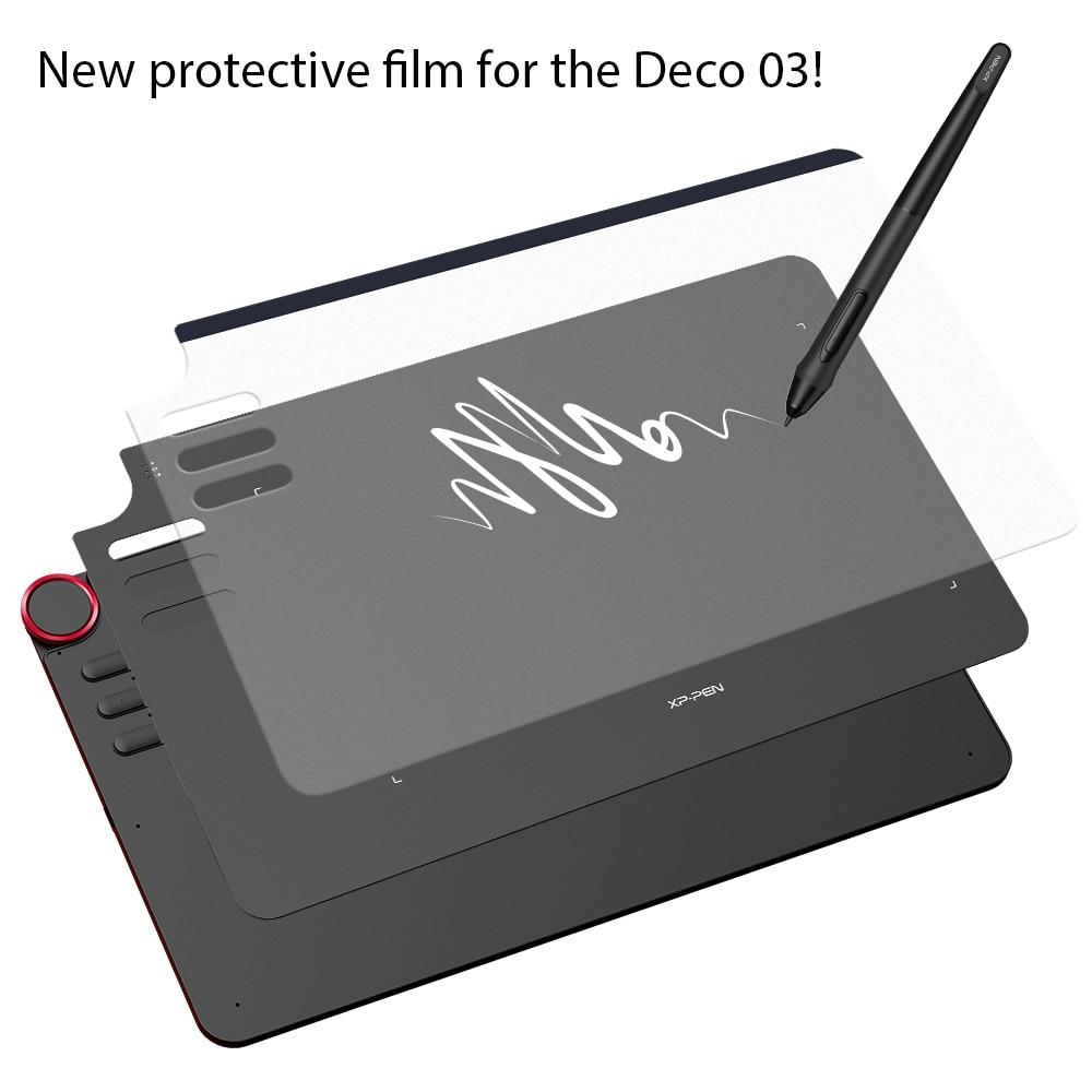 XP-Pen Tavoletta Grafica Disegno Tavoletta Grafica Pellicola Protettiva Trasparente per Deco03 (2 pezzi in 1 pacchetto)