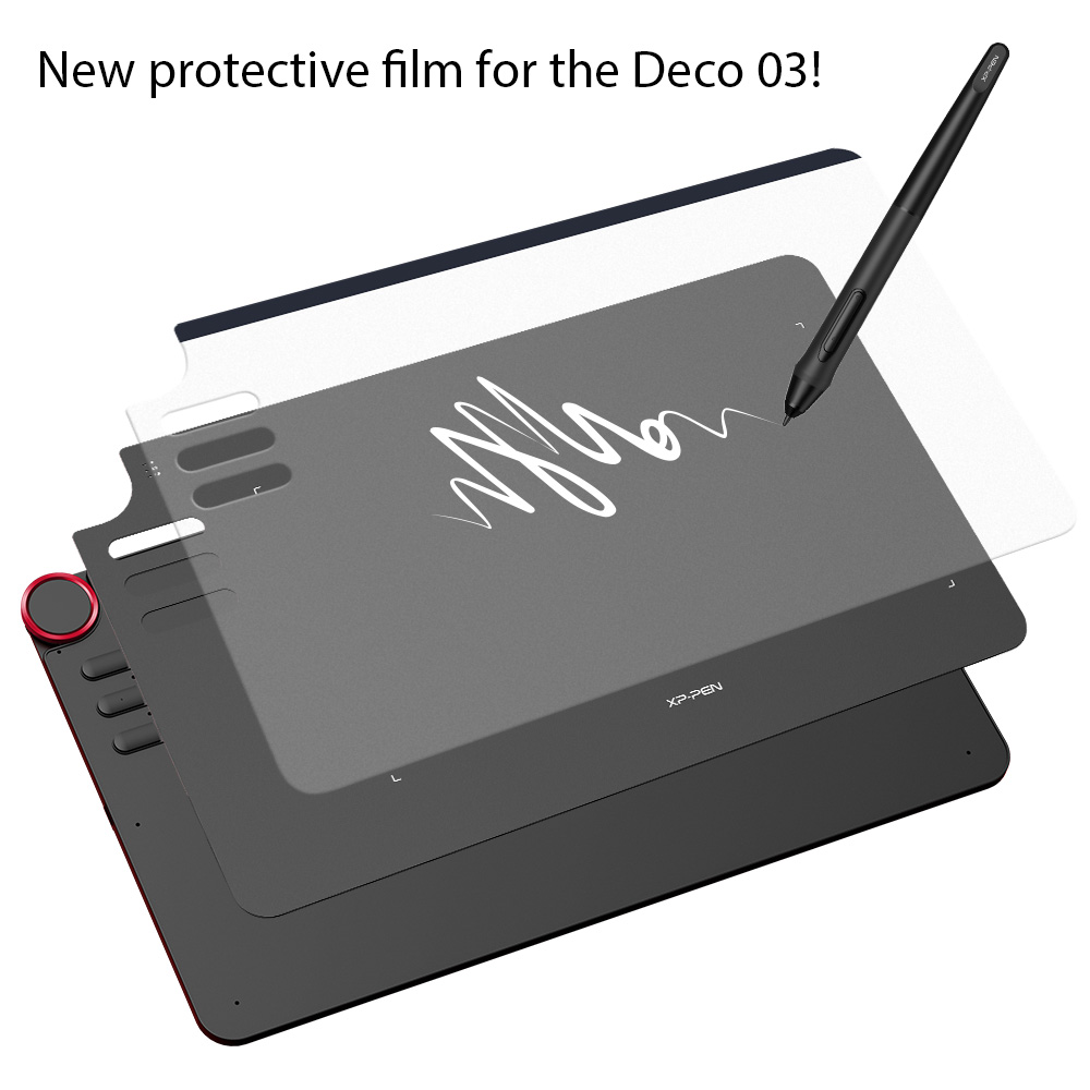 XP-Pen Transparent Graphic Tablet Protective Film for Deco03 Graphics Drawing Tablet (2 pieces in 1 package)