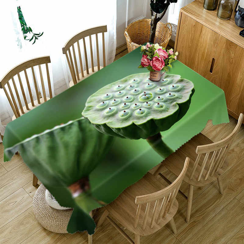 Green Tablecloth Cofffee Dining Waterproof 3d Rectangular Tablecloth Round Table Cloth Customized Size Cushion Cover Tablecloths Aliexpress