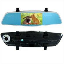 Big discount BigBigRoad For mitsubishi l200 outlander Car DVR Rearview Mirror Video Recorder Dual Camera 5 inch IPS Screen car dash camera