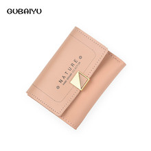 Leather Small Wallet Women Womens Wallets And Woman New Short Schoolgirl Fashion Concise Cross Section Penny Purse Purses