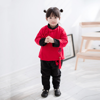 Chinese Style 2018 New Year Style Tang Suit Girl S Clothes Two Piece Children S Suit