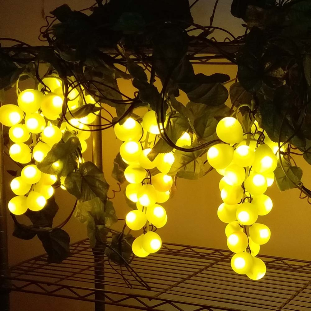 fairy lights garland led christmas string wedding decoration lighting grape fruit 10m 6 bunch 150leds grape in halloween party in led string from lights