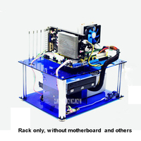 Black/Blue/Transparent DIY Personalized Acrylic Computer Chassis Rack Desktop PC Computer Case for ATX Mainboard Motherboard
