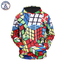 Mr.1991INC 2017 New Fashion Men's Hoodie 3D Print Cube Unisex Sweatshirt Hoodies with Pocket Hooded Autumn Winter Tops Clothing