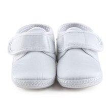 9edb1aad19cf2 Unique Nouveau-Né Bébé De Baptême Chaussures Pour 0-12 Mois Bébé Garçon Baptême  Chaussures Pur Blanc Premiers Marcheurs En Gros