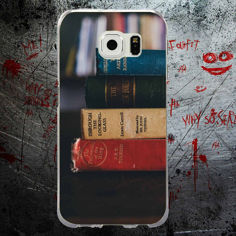 For Samsung S9 Case Books Coffee Rubber Soft TPU Phone Cases