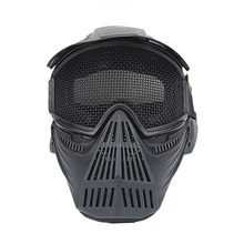 New Style TPR Tactical High Strength Steel Wire Round Mesh Mask for Hunting/Outdoor CL9-0051