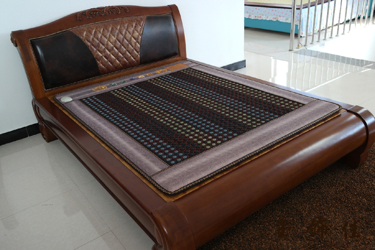 Electric Heating Natural Jade Mattress Heated Tourmaline Bed Mattress Chinese Tourmaline Mattress Physical Therapy Mat 1.2X1.9M 2017 best selling korea natural jade heated mattress pad tourmaline germanium electric heating physical therapy mat 1 2x1 9m