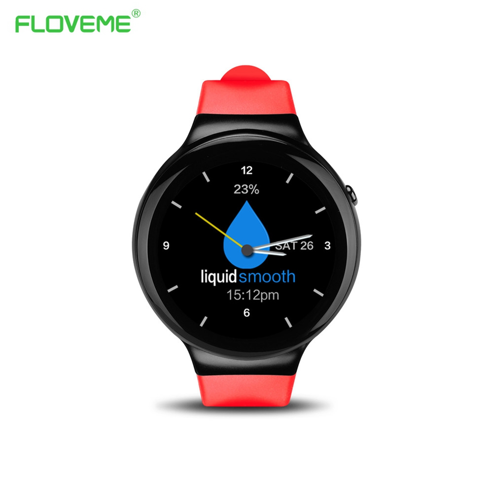 FLOVEME I4 Android 5 1 Wrist Smart watch MTK6580 1 39 AMOLED Display 3G 1G 16G