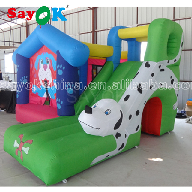 Yard Cheap Bouncy Castle Bounce House with Slide, Inflatable Bouncer Castle for Kids