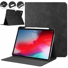 цены на Funda For ipad pro 11 2018 Case Stand Tablet With Pencil Holder PU Leather + PC Hard Back Smart Cover For New ipad pro 11 Case  в интернет-магазинах