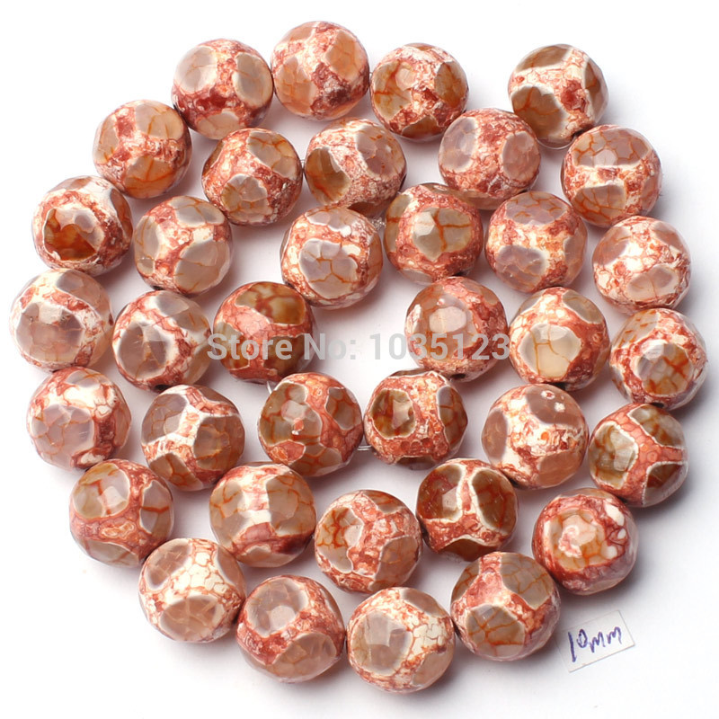 Free Shipping 10mm Pretty Natural Multicolor Agates Onyx Faceted Round Shape Loose Beads 15 Jewellery Making w1846