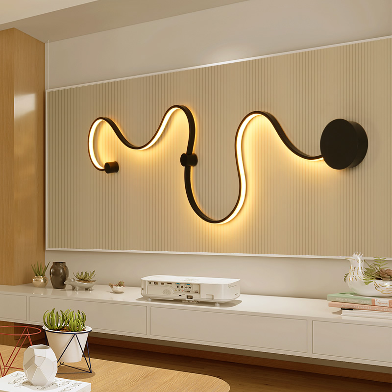 New Postmodern simple creative wall light led bedroom bedside decoration Nordic designer living room corridor hotel wall lamps stylish simple letters pattern wall sticker for bedroom livingroom decoration