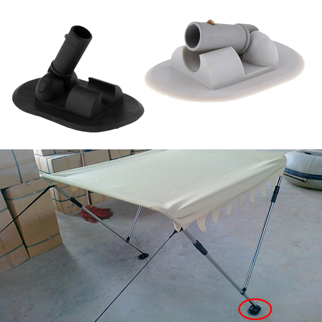 Boat PVC Awning Sun Shade Deck Mount Bimini Top Hardware For Speedboat Fishing Inflatable Boat