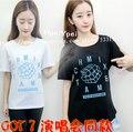 JYP NATION MIX MATCH concert GOT7 2PM Nickhun with Wang Jiaer T-shirt and cotton