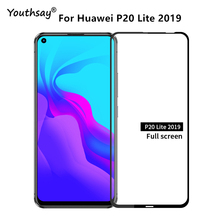 1PCS 2.5D For Huawei P20 Lite 2019 Glass Full Glue Screen Protector Film For Huawei P20 Lite 2019 Glass for P20 Lite 2019 Film hat prince hd clear full screen film for huawei p20 lite