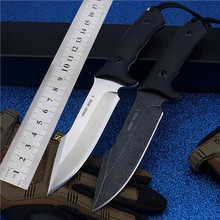 Swiss Outdoor Small Straight Self-defense Wilderness Survival With High Hardness To The Mountains G10 Non-slip Handle Steel