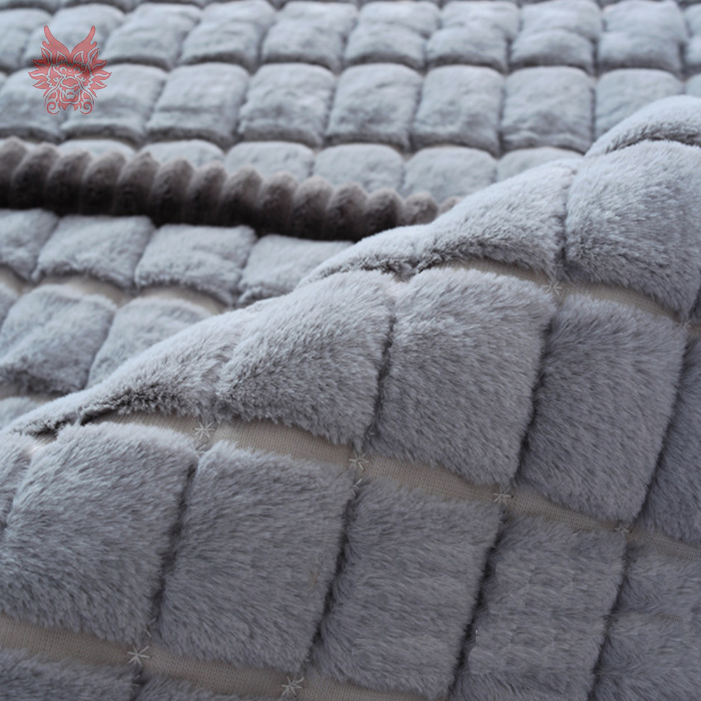 White Grey Plaid Plush Long Fur Sofa Cover Slipcovers Fundas De Sofa  Sectional Couch Covers Fundas De Sofa SP3923 FREE SHIPPING In Sofa Cover  From Home ...