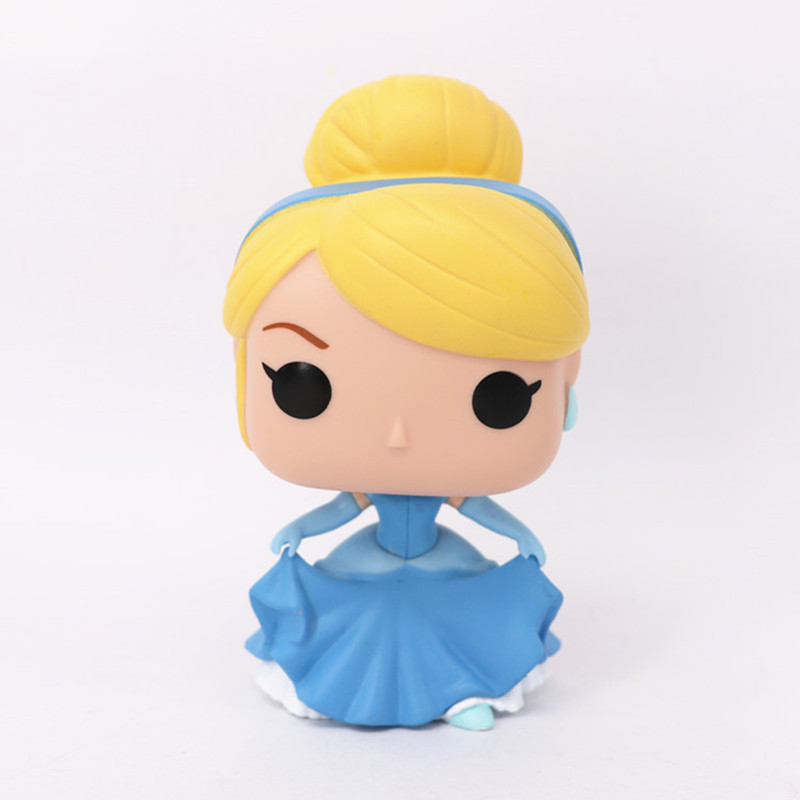 11.5cm PVC Funko POP Cinderella Doll Action Figure Toy, Princess Cinderella Model Figures For Girls, Hot Toys, Anime Brinquedos original aladdin and the magic lamp action figures toy aladdin jasmine princess model doll