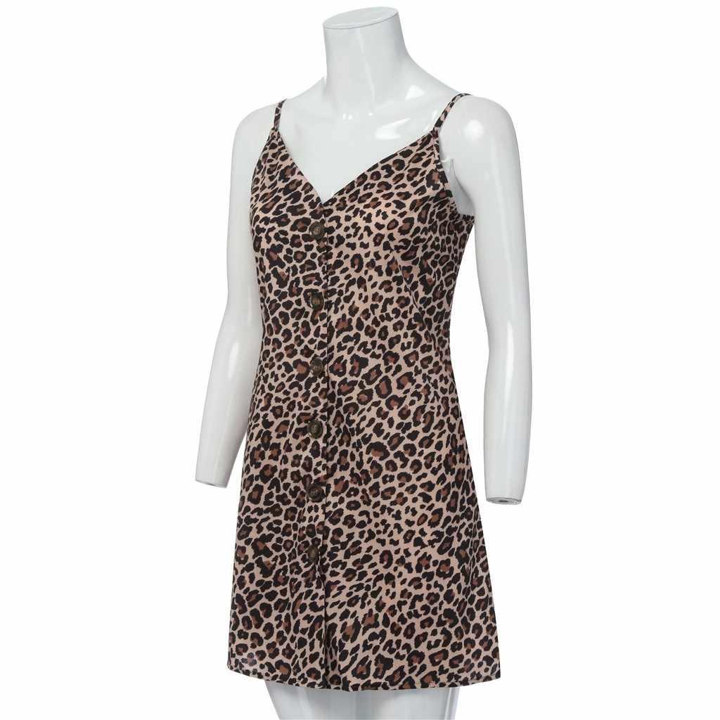 4xl 5xl 6xl plus size vestido sexy estilingue vestido de festa das mulheres moda senhoras aberto leopardo splice botão de impressão vestido casual (S-5XL)