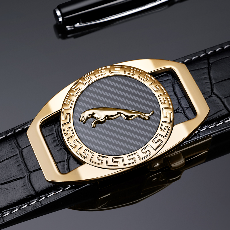 Brand   Belt   Men Top Quality Genuine Luxury Leather   Belts   for Men Strap Male Metal Automatic Buckle Williampolo 18400P
