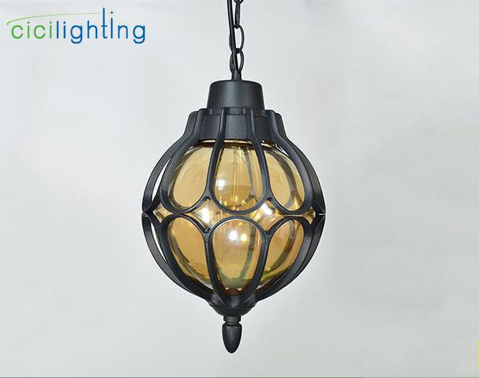 1 шт., европейский стиль, уличный светильник, винтажный подвесной светильник, наружный водонепроницаемый подвесной светильник, наружный ландшафтный светильник ing