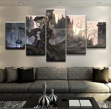 Bloodborne Lady Maria Game 5 Piece Canvas Wall Art For Living Room Painting HD Print Modern Decorative