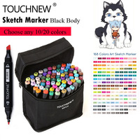 Touchnew 30 40 60 80 168 Colors Art Markers Set Alcohol Oily Base Sketch Art Markers