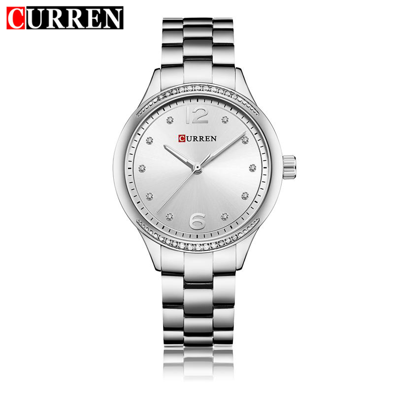 CURREN Luxury Women Watch Stainless Steel Gold Silver Fashion Bracelet Watches Ladies Women Wristwatches Relogio Femininos 9003 цена 2017