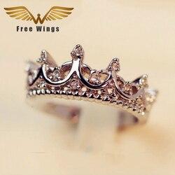 Free w ings queen s silver crown rings for women punk brand crystal jewellery love rings.jpg 250x250