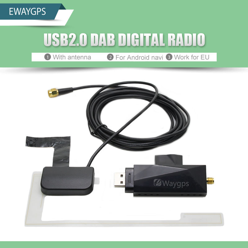 DAB Car Radio Tuner Receiver USB stick DAB box for Android Car DVD include antenna usb dongle Digital audio broadcasting