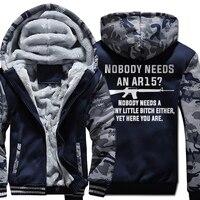 NOBODY NEEDS AN AR15 Mens 2019 New Winter sweatshirts hoody Baseball Jersey men's hoodies Fashion Casual Hipster Hot Sale