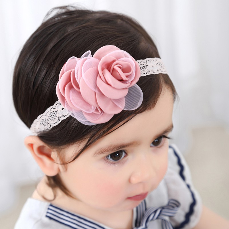 New New Fashion Baby Girls Lace Flower Headband Hairbands Kids Hair Accessories Kids Children Girls Headwear Bandage
