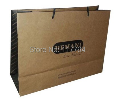 Brown Kraft Paper Bag Print One Color Only Shoe Client Design