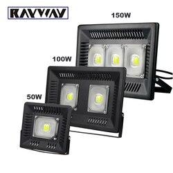 LED światło halogenowe IP65 wodoodporny 50 W 100 W 150 W COB reflektor 110 V 220 V kinkiet odkryty ogród plac zabaw dla dzieci oświetlenie krajobrazu w Reflektory od Lampy i oświetlenie na