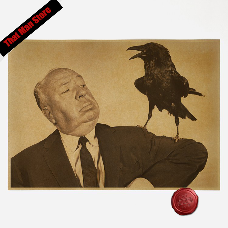 Vintage Alfred Hitchcock Classic Movies Vintage Paper Poster Wall Painting Home Decoration 42*30cm image