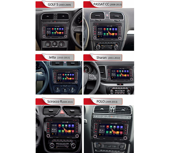 2din RNS 510 Radio android for VW PASSAT B6 Polo Sharan TIGUAN TOURAN CADDY  GOLF 5 Mk6 T5 SEAT for Skoda DAB DVD 3G 4G bluetooth