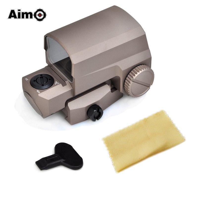 ФОТО Aim O Red Dot Handgun Scopes Front Iron Sight LCO 20mm Rail Mount For Airsoft Hunting Gun Tan AO6001