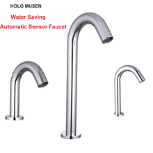 Touch Free Water Saving Automatic Infrared Sensor Faucet Bathroom Swan Faucet Automatic Sensor Basin Tap  touch free water saving automatic infrared sensor faucet bathroom swan faucet automatic sensor basin tap