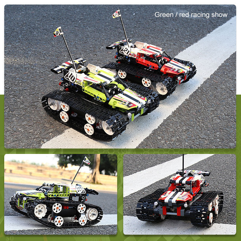 RC Tracked Racer Car Set Compatible With 42065  Kids Toys 20033 Tracked Off-road Vehicle  Car 13023 13024 Models Gift
