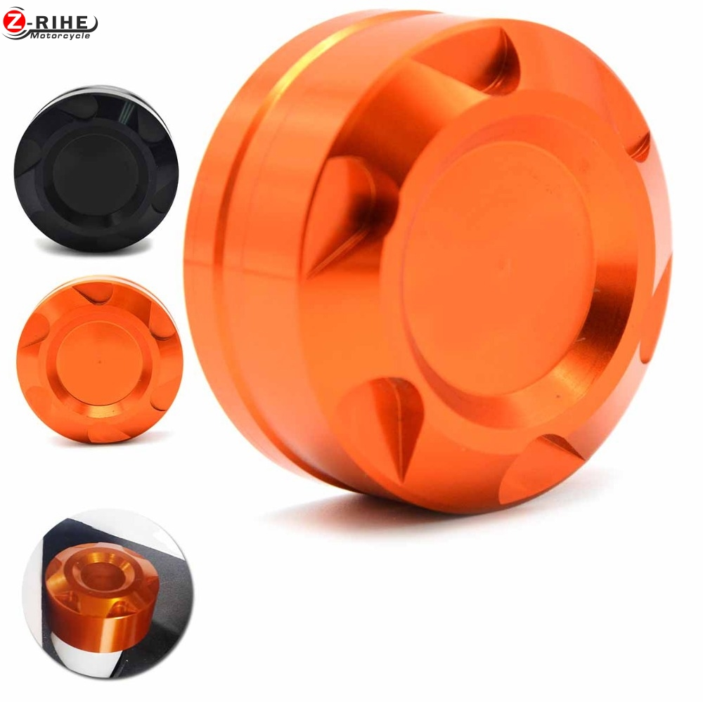 for DUKE 125 200 390 Orange Motorcycle Accessories CNC Aluminum Rear Engine Fluid Reservoir cover Cap For KTM DUKE 125 200 390 motorcycle cnc balance bar for ktm 125 duke 200 duke 390 handle rebar handlebar modification parts accessories balance bar