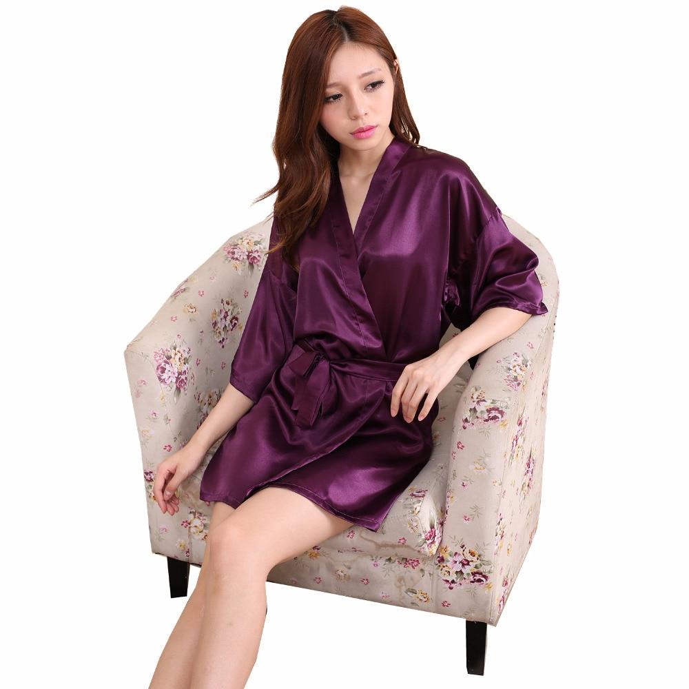 Wedding Satin Robes online buy wholesale pink satin robe from china rb033 2016 striped women robes bathrobe sexy charming kimono temptation lingerie sleepwear bridesmaid