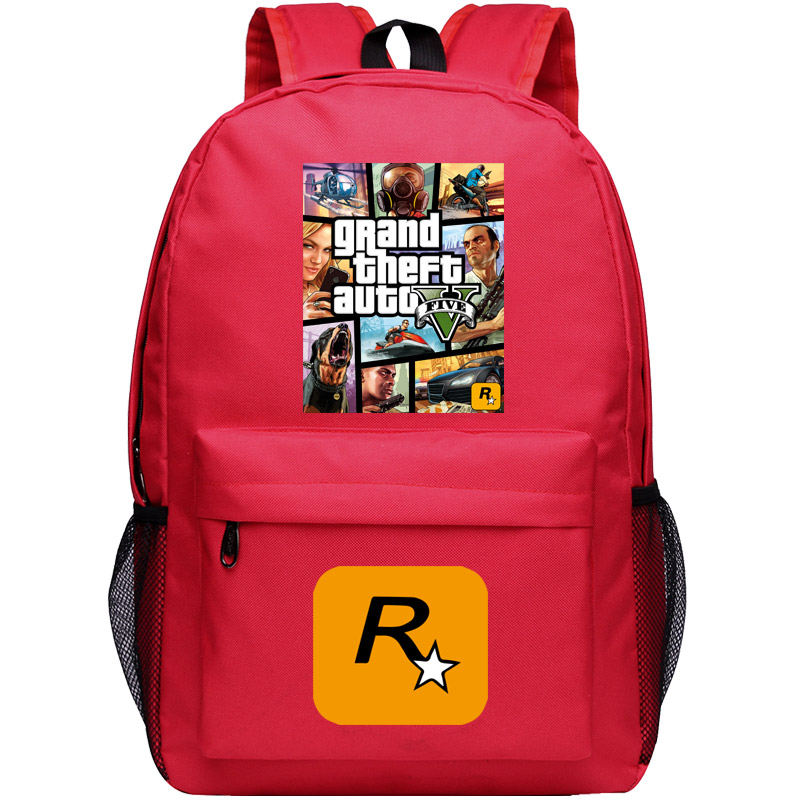 Grand Theft Auto Backpack For Boys GTA Canvas Bag Shoulder Travel School Bag For Teenagers Casual Laptop Bag Mochila Escolar in Backpacks from Luggage Bags