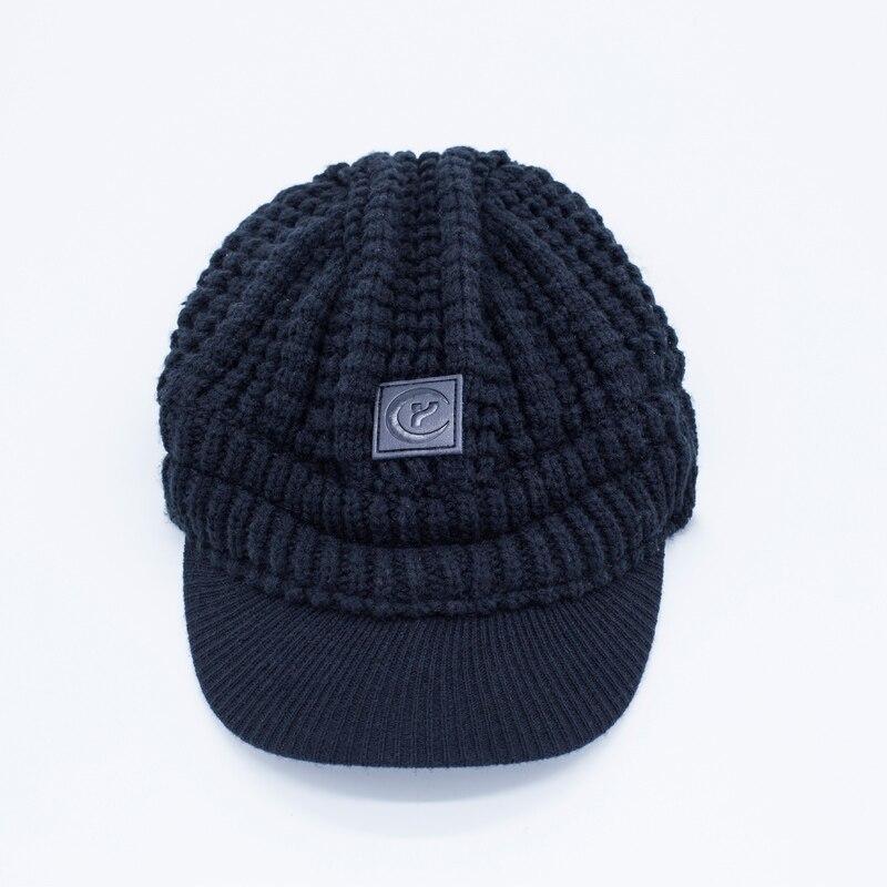 ⃝Clásica de Invierno gorros de punto para chicos sombrero casual ...