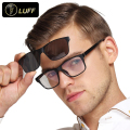 fashion glasses frame for myopia eyeglasses men sunglasses Magnetic clip on spectacles night vision goggle Polarized lens 22007